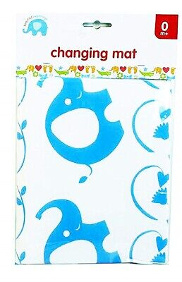 Easy Clean Baby Nappy Changing Mat Blue Wipe Clean Reusable Travel Mat