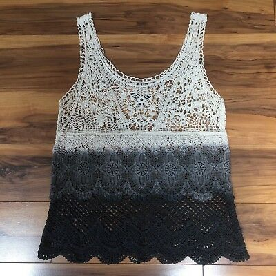 American Eagle Women's Ombre Lace Tank Top, Size S