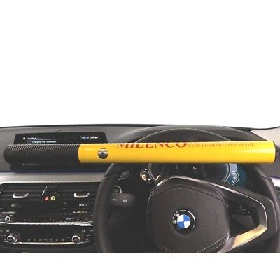 Milenco Motorhome Car Van High Security Steel Steering Wheel Lock 0499 Yellow