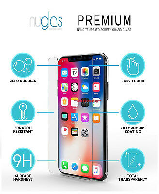 """For Apple iPhone XS MAX 6.5"""" Nuglas Premium Tempered Glass Screen Protector 2PK"""