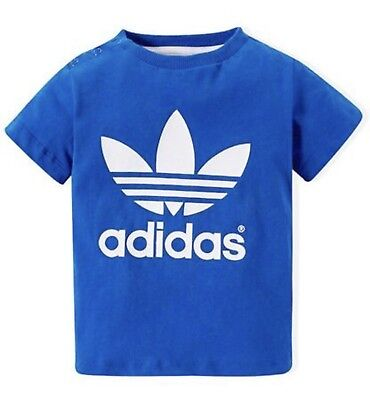 Adidas Originals Trefoil T-Shirt Infant Boy's Blue Top