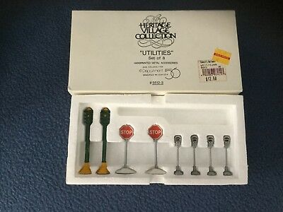 Utilities set of 8 Dept 56 Heritage Village 55123 accessory Christmas snow A