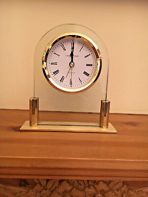 London Clock Company new glass and gold look mantel carriage clock unused