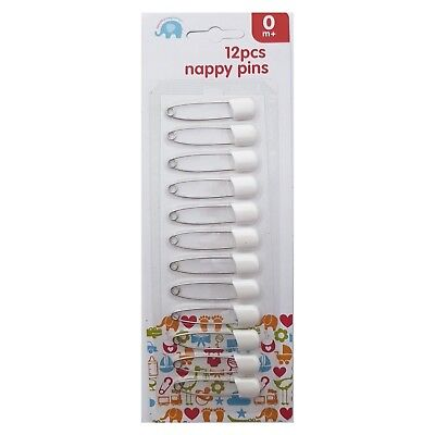 12 Pack Large Retro Nappy Pins Baby Diaper Fasteners Safety Pin