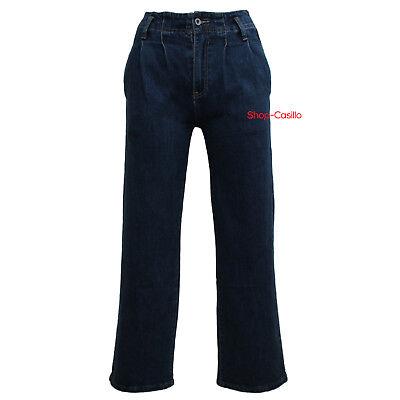 1e904e751d JEANS DONNA PALAZZO Vita Alta Pantalone Denim Slim Fit Elastico Largo Sotto  Top