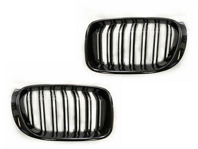 2015-2017 BMW X3 X4 F25/F26 M Style Kidney Grill Grille PAINTED GLOSSY BLACK