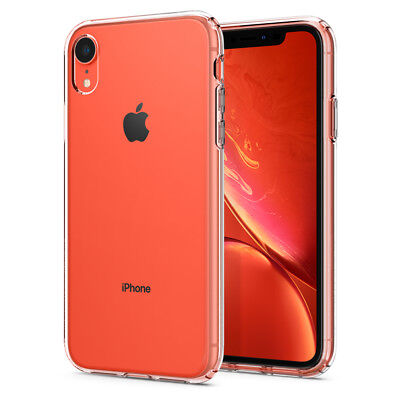 For iPhone XR | Spigen® [Liquid Crystal] Clear Ultra Slim Protective Case Cover