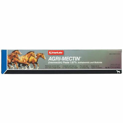 AGRI-MECTIN Ivermectin Paste 1.87% Apple Flavored HORSE Equine Wormer