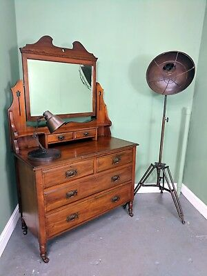 An Antique Victorian/Edwardian Walnut Dressing Chest Table ~Delivery Available~