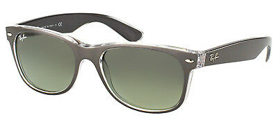 Ray Ban New Wayfarer RB 2132 6143/71 Brushed Gunmetal Sunglasses Grey Lens 52mm