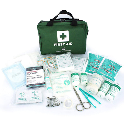 HSC 103 Piece First Aid Kit + 500ml Isopropyl Rubbing Alcohol Emergency Bag Set