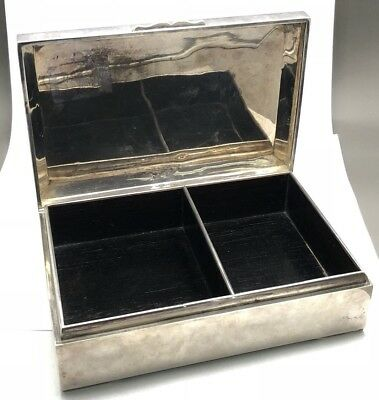 Vintage sterling 950 silver jewelry / trinket / cigar box!