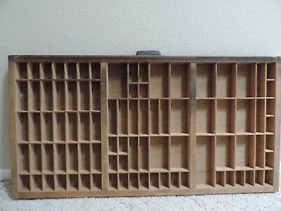 Antique Wood typeset Letter Printers Tray Drawer by Hamiltion
