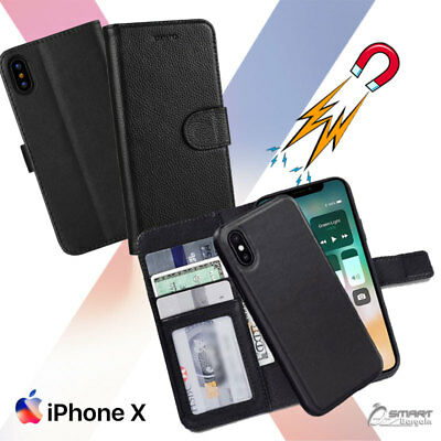 Magnetic Detachable Flip Card Slot  Wallet Case Cover For iPhone Xs / iPhone 10s
