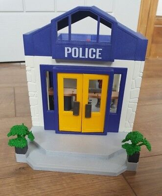 Playmobil police station and jail plus figures and parts