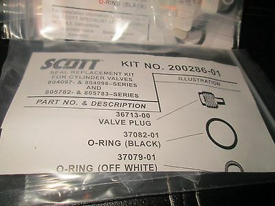 1 New Scott kit no 200286-01 SEAL Replacement kit for cylinder valves read all