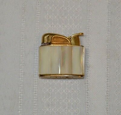 Vintage Evans Mother of Pearl and Gold Tone Lighter