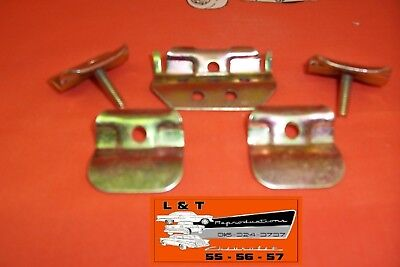 1955 1956 1957 Chevy Center Lower Stainless  Windshild Moulding Clips Set Belair