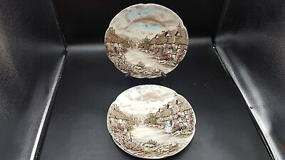 "Set of 3 JOHNSON BROTHERS 10"" DINNER PLATE OLDE OLD ENGLISH COUNTRYSIDE VINTAGE"