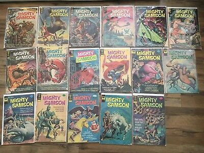 MIGHTY SAMSON LOT 17 Issues #s 1-4, 6, 15-16, 19, 23-31 various grades GOLD KEY