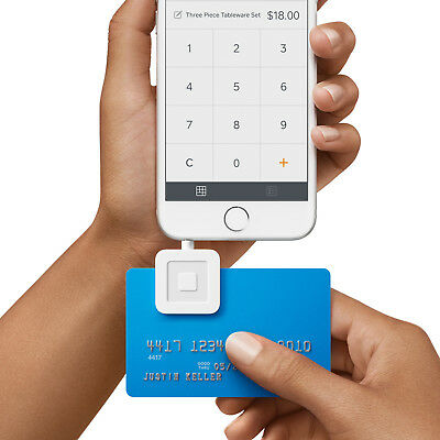 Brand Square Credit Card Reader for iPhone, iPad and Android-White NEW
