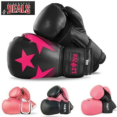 Pink Boxing Gloves Punching Ladies Mitts Sparring MMA Fight Training Punch Bag