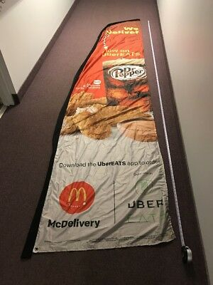Mcdonald's Advertising Flag 143 Inches Long