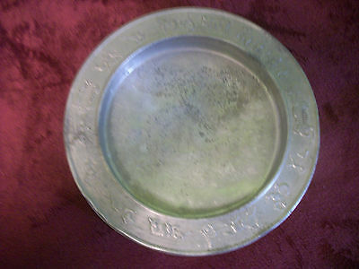 Vintage 1940s Child's Aluminum Plate w/ Circus Design  Everything Else Tablewear