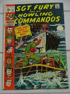 Sgt. Fury and His Howling Commandos Comic Book #87 Marvel 1971 - C3420