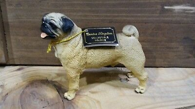 Victorian Trading Co Favorite Dog Breed  Pug Desk Pen Holder