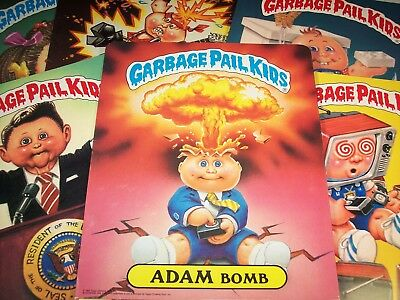 Garbage pail kids gpk series 1 folder numbered 1 2 3 4 5 6 7 8 complete set of 8
