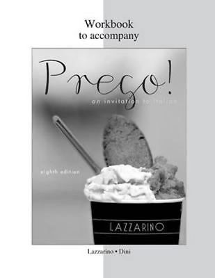 NEW Workbook For Prego! By Graziana Lazzarino Paperback Free Shipping