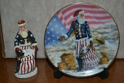 "Duncan Royale History Of Santa Claus Pewter 3"" Civil War With Plate"