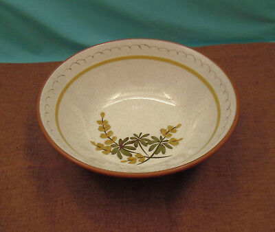 """Beautiful Vintage Hand Painted Stangl Large Serving Bowl - 10""""  Golden Blossom"""