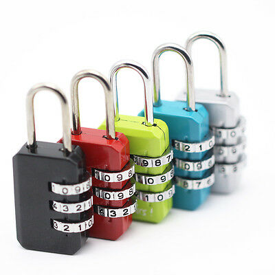 Resettable 3-Digit Combination Travel Suitcase Luggage Bag Code Lock Padlock New
