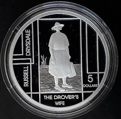 2006 Australia Drovers Wife by R Drysdale 1oz Silver (99.9%) Proof $5 coin