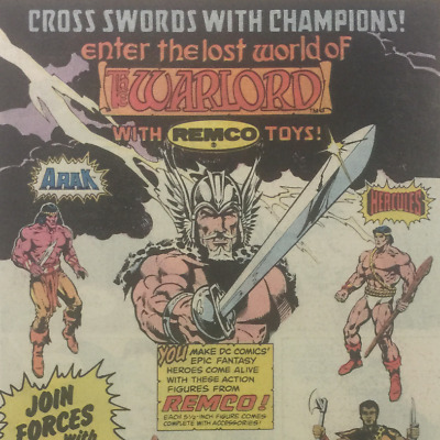Circa 1980s The Warlord REMCO Toys Action Figures DC Comics Kmart Print Ad