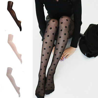 Women Sexy Stockings Lace Dots Pantyhose Socks Hosiery Tight Elastic Stockings