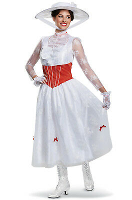 Brand New Disney Mary Poppins Deluxe Adult Costume