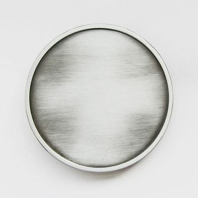 Antique Brushed Silver Round Blank  Metal Belt Buckle
