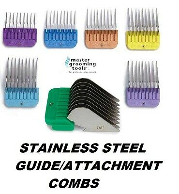 Stainless Steel Attachment GUIDE BLADE COMB Fit Oster A5,Most Andis,Wahl Clipper