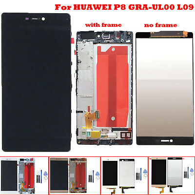 LCD Display Touch Screen Digitizer Replacement Frame For HUAWEI P8 GRA-UL00 L09