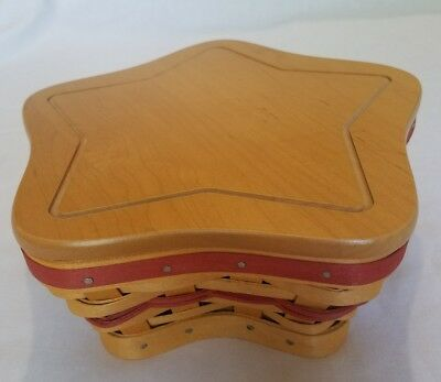 Longaberger Red Little Star Basket 2001 with Liner