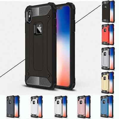 Heavy Duty Shockproof Rugged Hybrid Armor Hard Case Cover For iPhone XS Max XR
