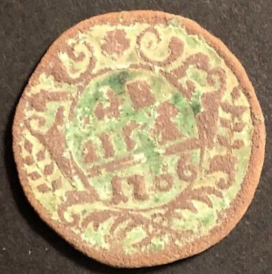 Old Antique 1776 Russian Empire Coin Copper European Ussr Metal Detector Find