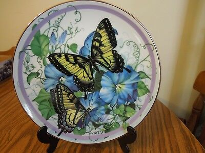 """"""" TIGER SWALLOWTAIL """"  5th issue Butterfly Garden Plate Coll 1986"""