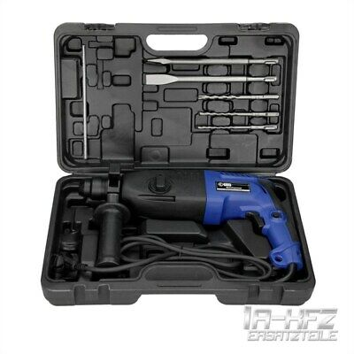Electric Hammer Drill Rotary Braker + Case + Demolition Chisels Set Sds Plus Kit