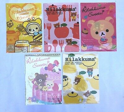 ~* Lot 5 San-x Rilakkuma Bear A4 File Folder Set D Document Bag Japan * ~US SHIP