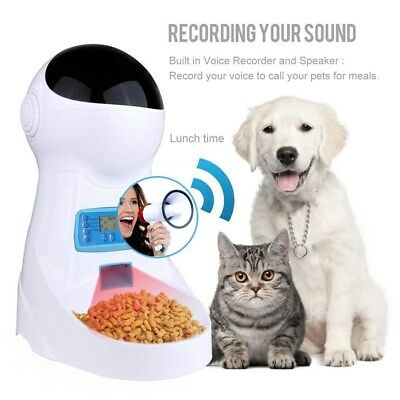 Automatic Pet Feeder Food Dispenser Voice Recording Time Programmable for Dog