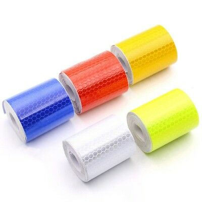 Car Warning Reflective Tape Stickers Roll Film Reflector Sticker Decal Tool